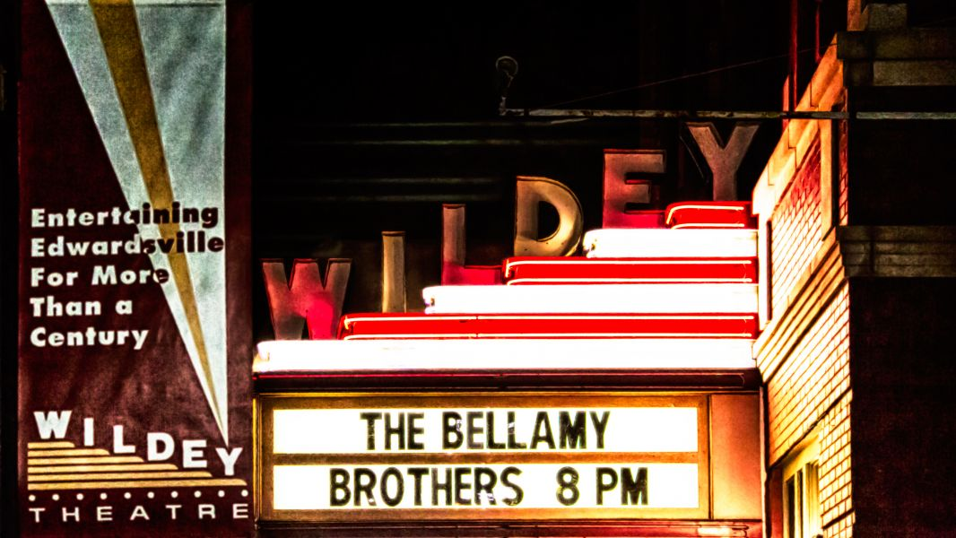 The Bellamy Brothers on the Wildey Theatre Marquee