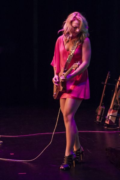 Samantha Fish onstage at the Wildey Theatre
