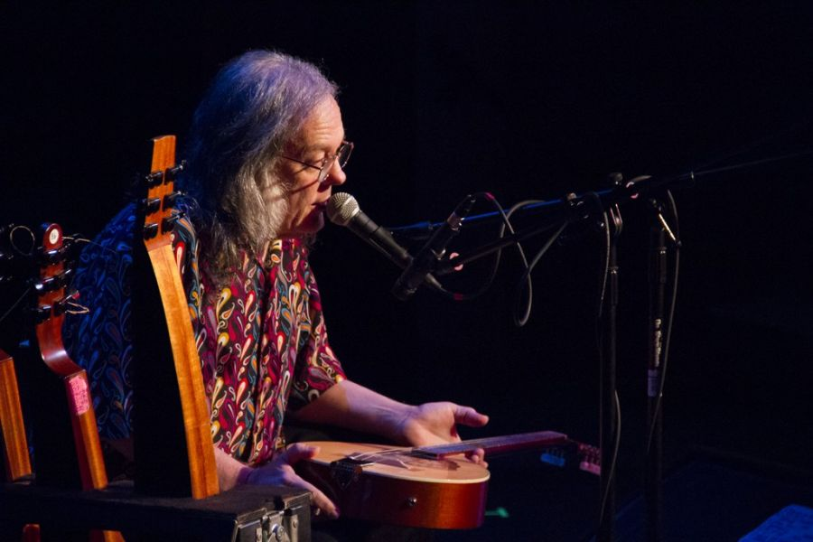David Lindley onstage at the Wildey Theatre