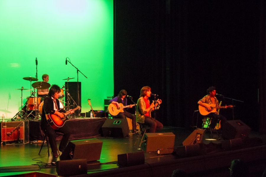 Satisfaction tribute band onstage at the Wildey Theatre