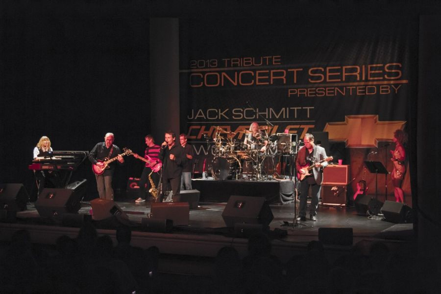 Silver Bullet Band onstage at the Wildey Theatre