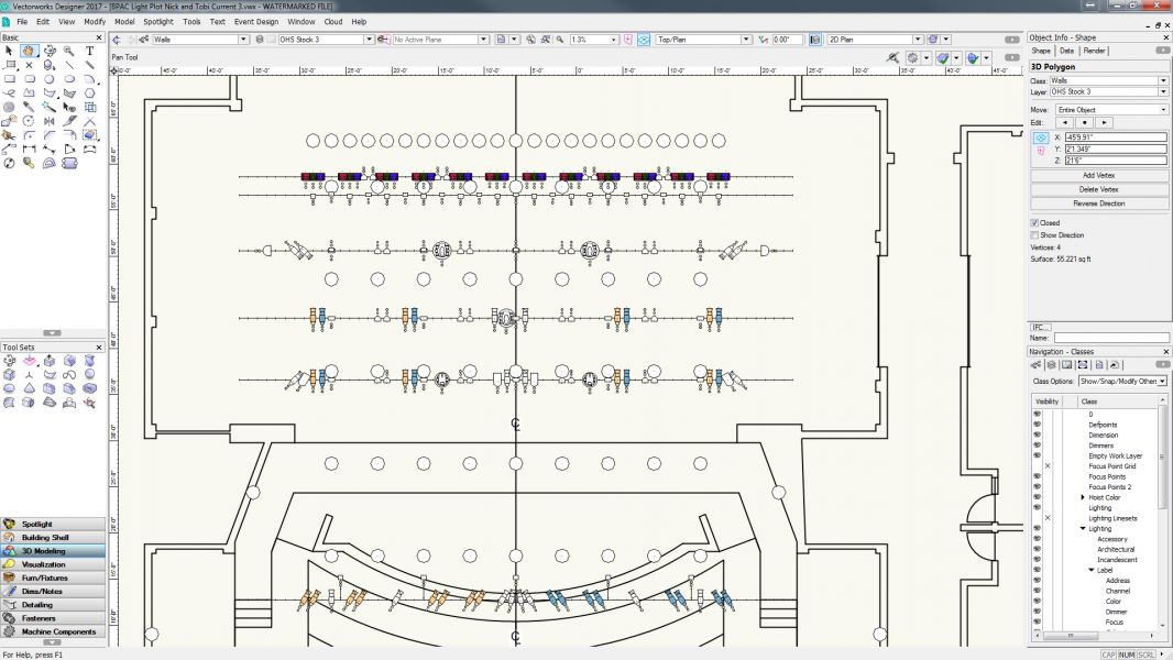 Vectorworks Light Plot